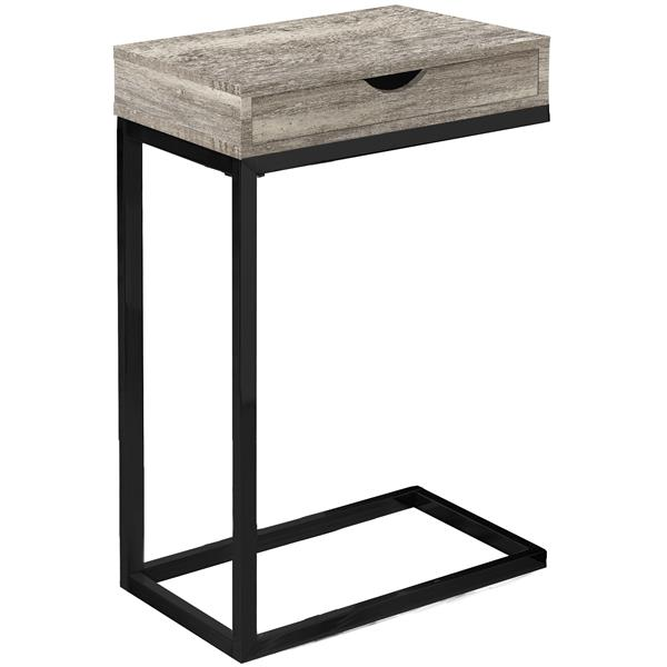 Monarch Accent Table with Drawer - Taupe Reclaimed Wood /Black
