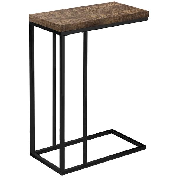 Monarch Accent Table - Brown Reclaimed Wood and Black Metal