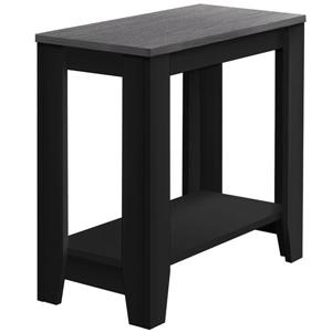 Monarch Accent Table - Black and Grey Wood Reclaimed Top