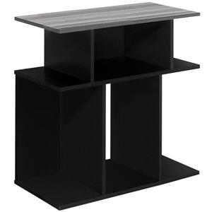 """Table d'appoint 24""""H, noir avec dessus gris, 24""""x24""""x12"""""""
