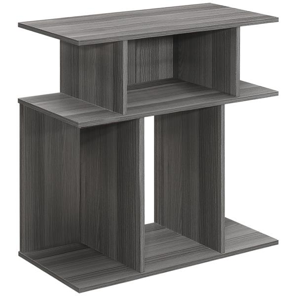 Monarch Accent Table or Display Unit 24-in H - Grey - 24-inx24-inx12-in