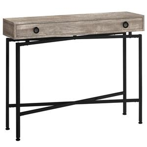 Monarch Accent Table - Console Taupe Reclaimed Wood and Black 42-in