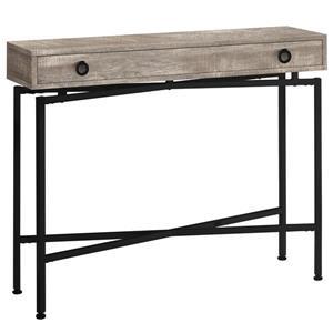 """Table d'appoint console en faux bois taupe et noir,  42"""""""