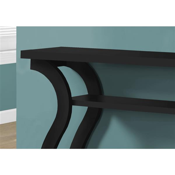 Monarch Accent Table - Black Hall Console - 47-inL
