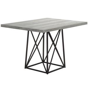 Monarch Dining Table - Grey Reclaimed Wood Look/Black -  36-in x  48-in