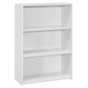 """Bibliothèque/étagère avec 3 tablettes, blanc,  36""""h"""