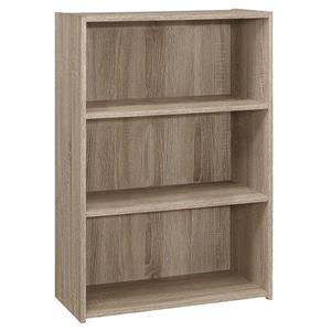 Bookcase with 3 Shelves - Dark Taupe - 36