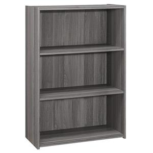 Monarch Bookcase with 3 Shelves - Grey - 36-in H