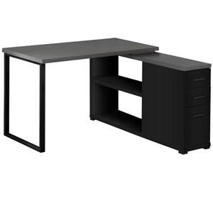 Monarch Computer Desk - Black and Grey - Left/Right Facing