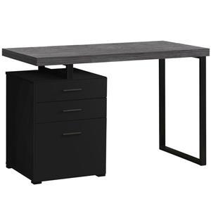 Monarch Computer Desk - Black / Grey Top -  Left/Right Facing - 48-in