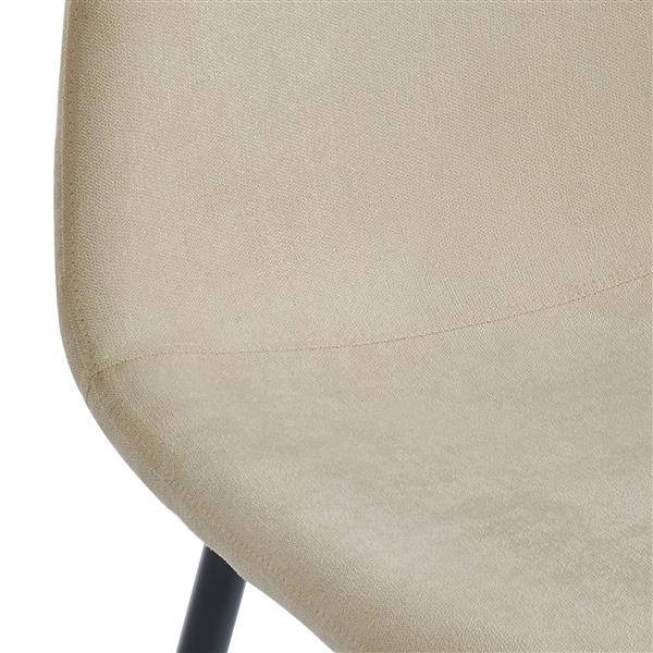 WHI Dining Chairs Mid Century - Beige Fabric/Metal - Set of 4