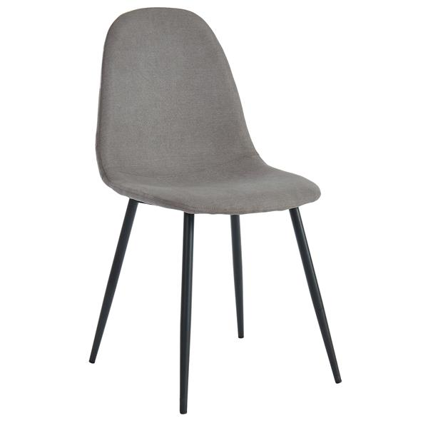 WHI Dining Chairs Mid Century - Grey Fabric/Metal - Set of 4