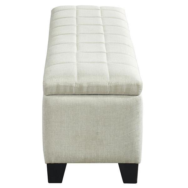 """WHI Bench Ottoman with Storage - Fabric Beige - 48"""""""