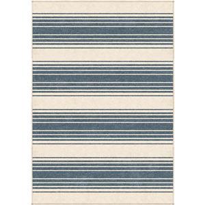 """Tapis « Cabana », 94"""" x 130"""", polypropylène, bleu/beige"""