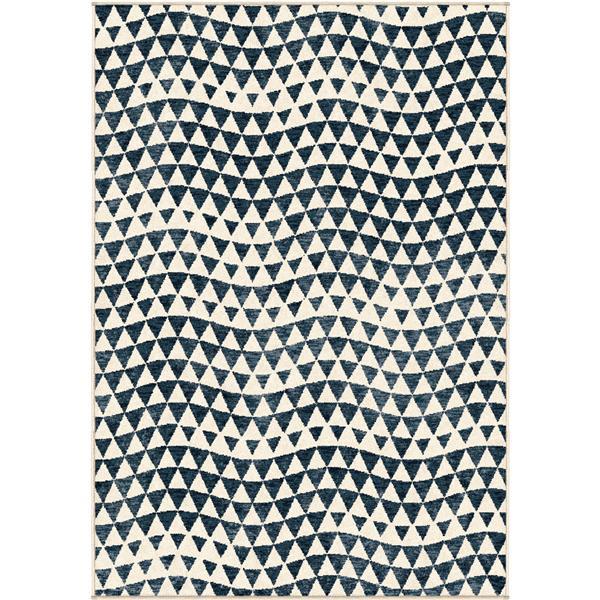Orian Rugs Diamond Rug - 94-in x 130-in - Polypropylene - Blue/Cream