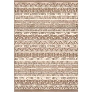 "Tapis « Costal Tribe », 94"" x 130"", polypropylène, beige"