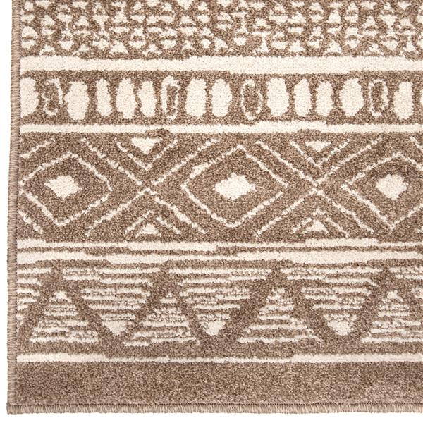 Orian Rugs Costal Tribe Rug - 63-in x 90-in - Polypropylene - Beige
