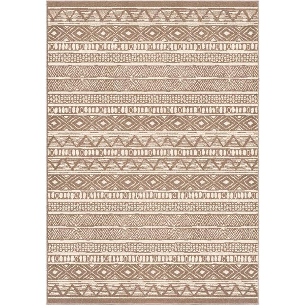 "Tapis « Costal Tribe », 63"" x 90"", polypropylène, beige"