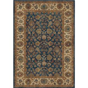 "Tapis « Cambridge », 63"" x 90"", polypropylène, bleu/beige"