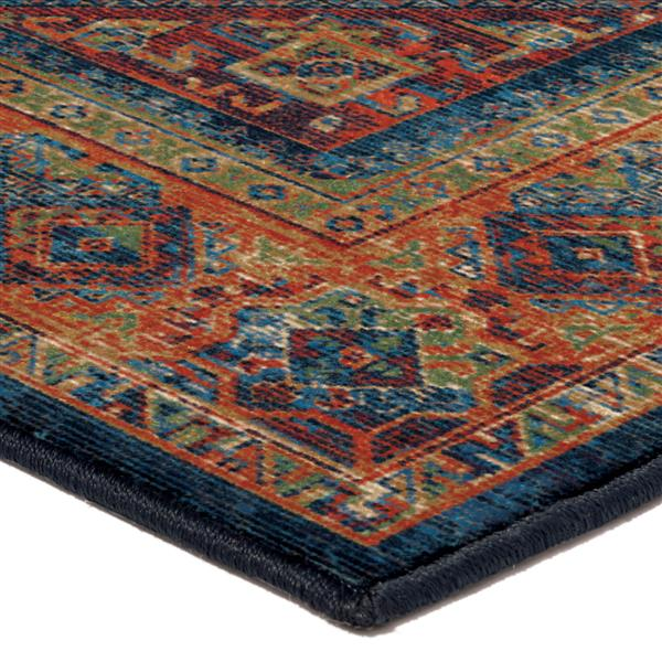 Orian Rugs Boho Diamonds Rug - 90-in - Polypropylene - Blue/Orange