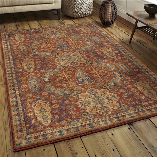 Orian Rugs Catherine Rug - 94-in x 130-in - Polypropylene - Red/Blue