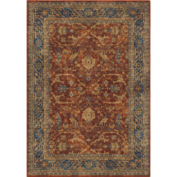 Orian Rugs Olde English Rug - 63-in x 90-in - Polypropylene - Red/Blue