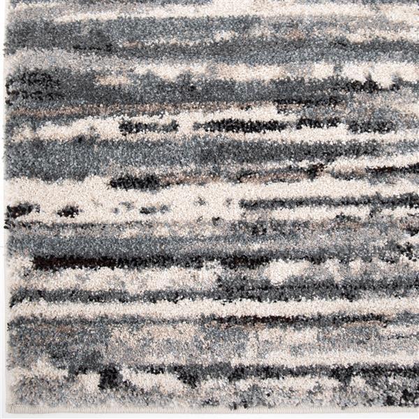 Orian Rugs Static Lines Rug - 63-in x 90-in - Polypropylene - Blue/Black