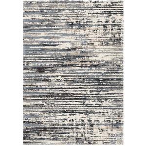 "Tapis « Static Lines », 63"" x 90"", polypropylène, bleu/noir"