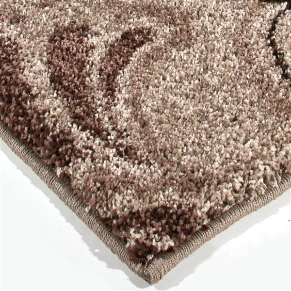 Orian Rugs Loose Leaf Rug - 63-in x 90-in - Polypropylene - Beige/Brown