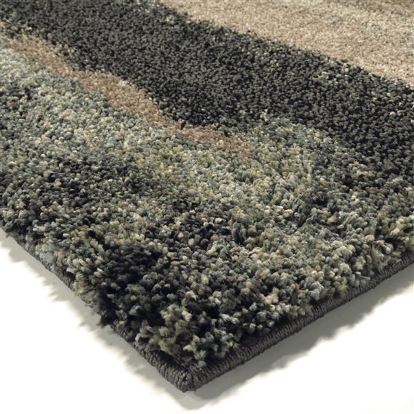 """Tapis « Wavelength », 63"""" x 90"""", polypropylène, bleu/noir"""