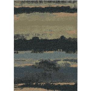 """Tapis « Wavelength », 94"""" x 130"""", polypropylène, bleu/noir"""
