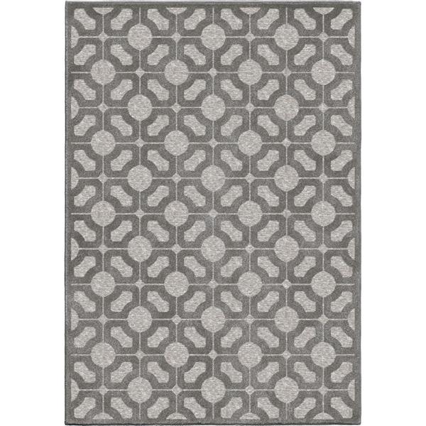 Orian Rugs Lattice Rug - 63-in x 90-in - Polypropylene - Gray