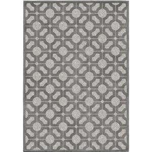 "Tapis « Lattice », 63"" x 90"", polypropylène, gris"