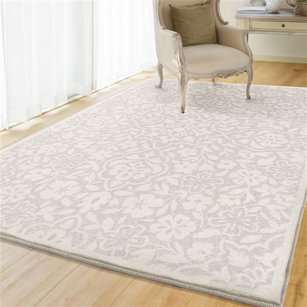 Orian Rugs Summer Floral Rug - 63-in x 90-in - Polypropylene - Natural