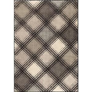 "Tapis « Diamond », 63"" x 90"", polypropylène, gris/beige"