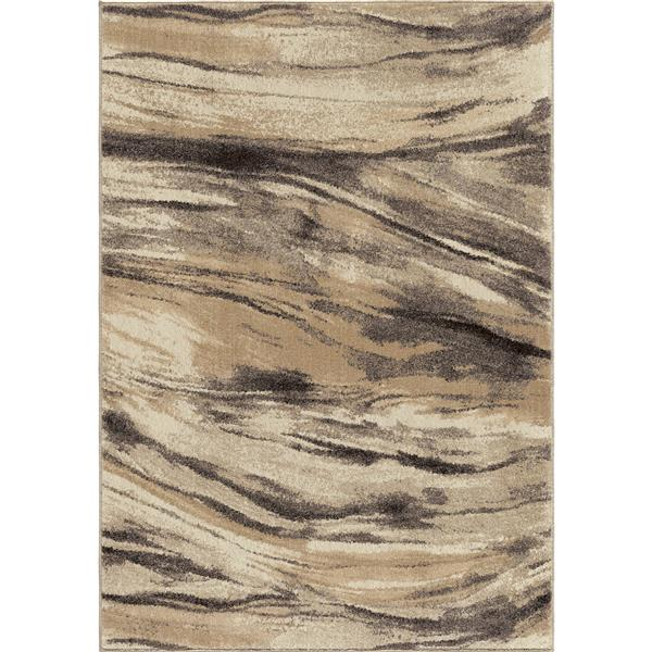 Orian Rugs Riverbed Rug - 63-in x 90-in - Polypropylene - Beige/Gray