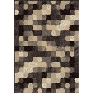 "Tapis « Soft Blocks », 63"" x 90"", polypropylène, gris/beige"