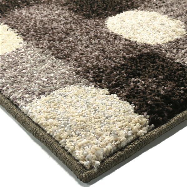 Orian Rugs Soft Blocks Rug - 94-in x 130-in - Polypropylene - Gray/Beige
