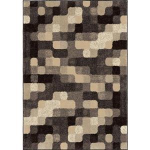 "Tapis « Soft Blocks », 94"" x 130"", polypropylène, gris/beige"
