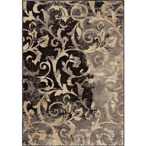 "Tapis « Faded Scroll », 63"" x 90"", polypropylène, gris/beige"