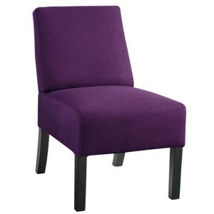 Compact Accent Chair with textured fabric - Purple