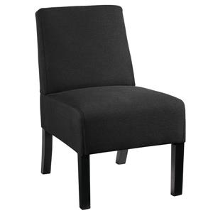 Compact Accent Chair with textured fabric - Black