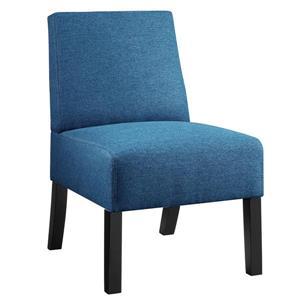 Fauteuil d'appoint compact en tissu texturé, bleu