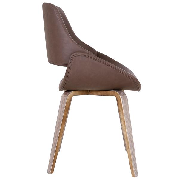 !nspire Mid-Century Accent Chair - 32.25-in - Brown Faux Leather