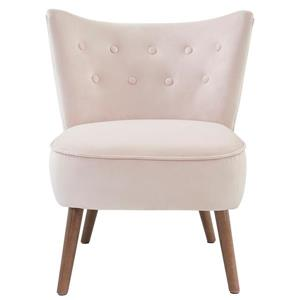 WHI Velvet Accent Chair, Blush