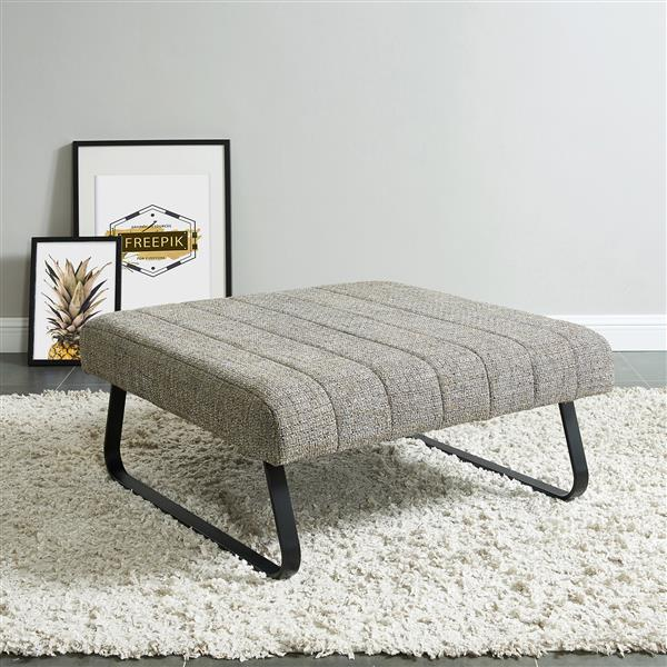 !nspire Fabric Cocktail Ottoman - 36-in x 36-in - Camel Blend