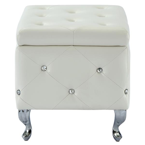Stupendous Nspire Faux Leather Storage Bench With Crystals 21 75 In Bralicious Painted Fabric Chair Ideas Braliciousco