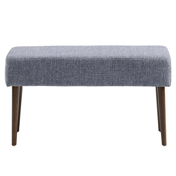 """WHI Mid Century Compact Bench - Grey Fabric - 31.5"""""""