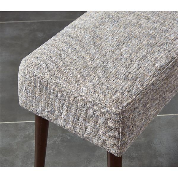 """WHI Mid Century Compact Bench - Beige Fabric - 31.5"""""""