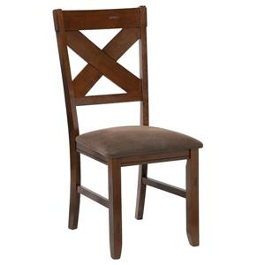 WHI Side/dining Chairs- Solid Wood/Faux Leather - Set of 2